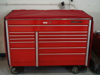 Red Custom Toolbox Cover: Closed